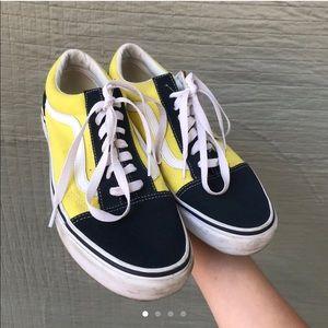 Navy and Yellow Vans